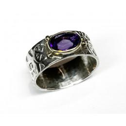 améthyst silver ring