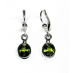 péridots silver earrings