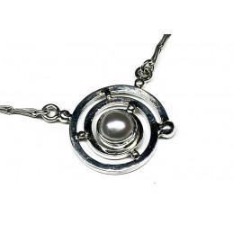 culture pearl silver necklace
