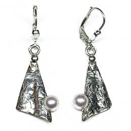 culture pearls silver earrings