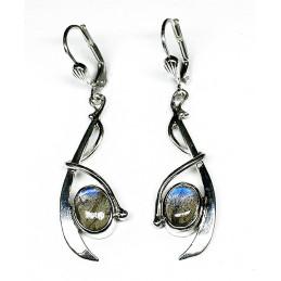 Labradorite Silver earrings