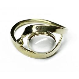 Moonstone 18 ct gold ring