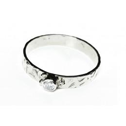 Diamond 18 ct white gold ring