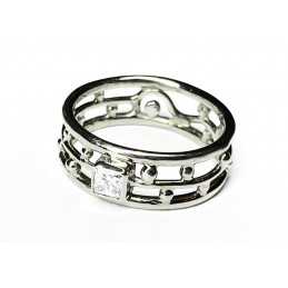18 ct white gold and...
