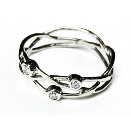 18 ct white gold Diamonds ring