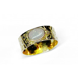 Opale 18 ct gold ring