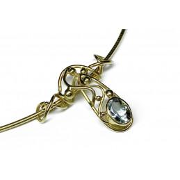 Aquamarine 18 ct gold necklace
