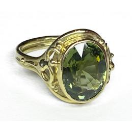 Green tourmaline 18ct gold...