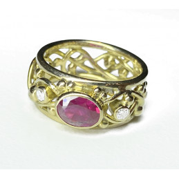 18 ct gold Ruby ring