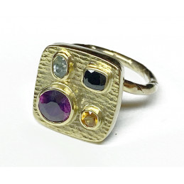 18 ct color saphirs Ring