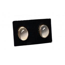 Moonstone 18 ct gold earrings