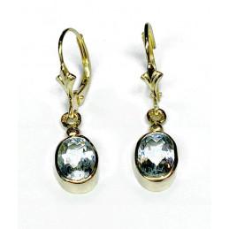 18 ct gold Aquamarine earrings