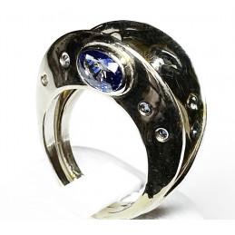 18 ct white gold Saphir rings