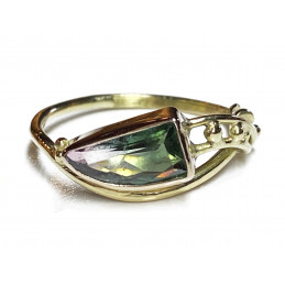 TWOCOLOR TOURMALINE GOLD RING
